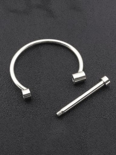 steel Titanium Steel Geometric Minimalist Band Bangle