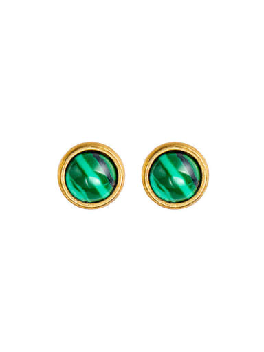 Men's and women's natural stone inlaid Earrings