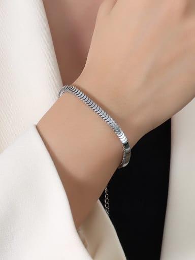 E265 steel bracelet 15 +5cm Titanium Steel  Minimalist Irregular Braclete and Necklace Set