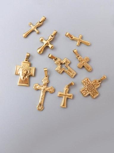 Titanium Steel Vintage  Cross Pendant