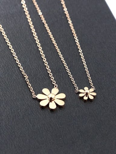 Titanium Flower Dainty Necklace