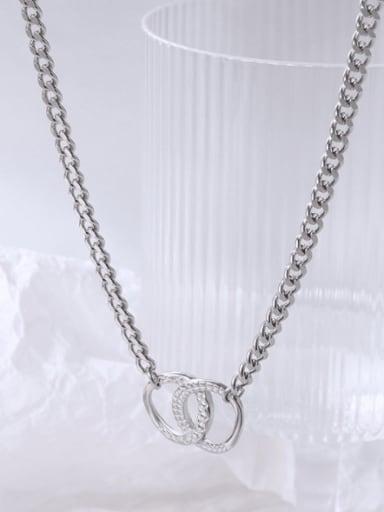 P159 steel bracelet 40 +5cm Titanium Steel  Minimalist Geometric Braclete and Necklace Set