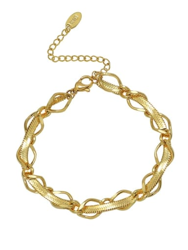 E278 gold bracelet 15 +5cm Titanium Steel Hip Hop Irregular Braclete and Necklace Set