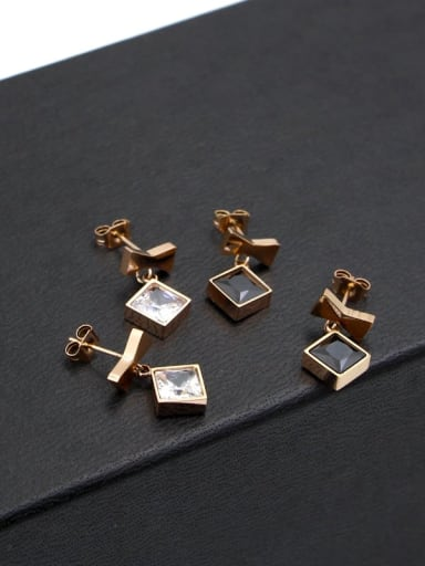 Titanium Rhinestone Bowknot Minimalist Stud Earring