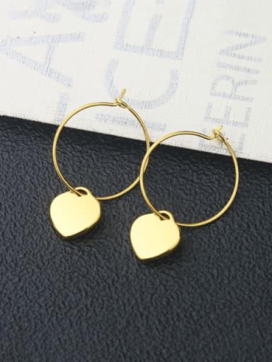 Heart shaped steel pair Titanium Steel Star Minimalist  Heart Shaped Huggie Earring