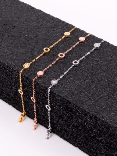 Titanium Enamel Number Minimalist Link Bracelet