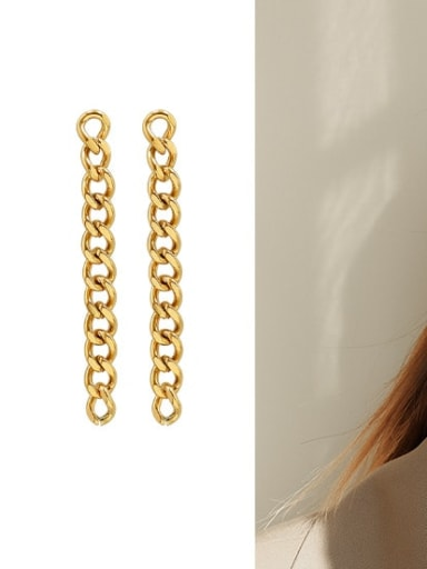 f383 Gold Earrings Titanium 316L Stainless Steel  Vintage Geometric Earring And Braclete Set with e-coated waterproof