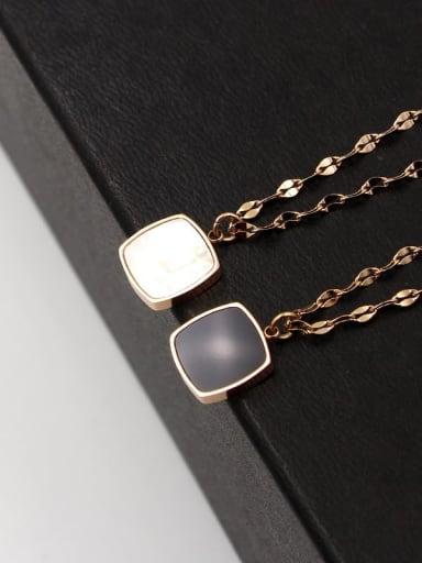 Titanium Shell Geometric Trend Necklace