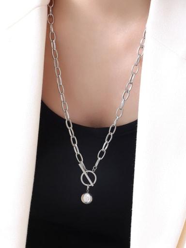Titanium Steel Geometric Luxury Hollow Chain Necklace