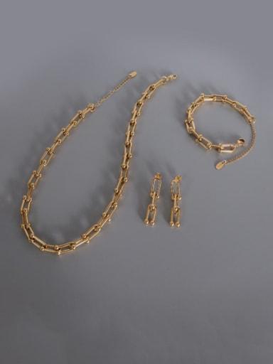 Titanium Steel Vintage Geometric  Bangle Earring and Necklace Set