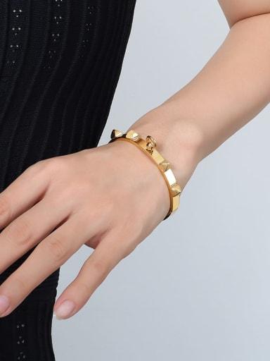 Z104 gold bracelet Titanium Steel Geometric Hip Hop Band Bangle