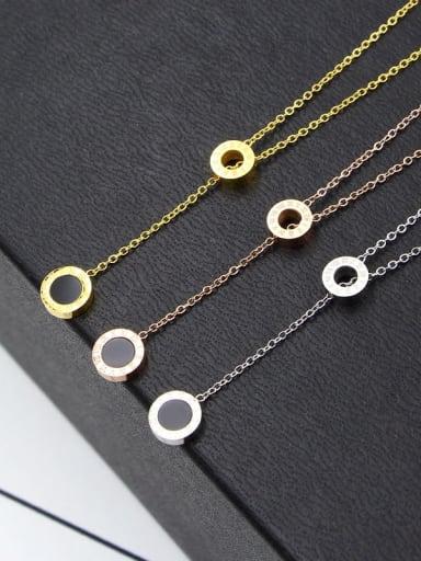 Titanium Number Minimalist Lariat Necklace