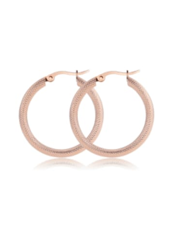 Titanium Steel Hollow Round Minimalist Hoop Earring