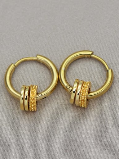 gold European and American fashion 18K Gold non fading stainless steel awn star titanium steel earrings