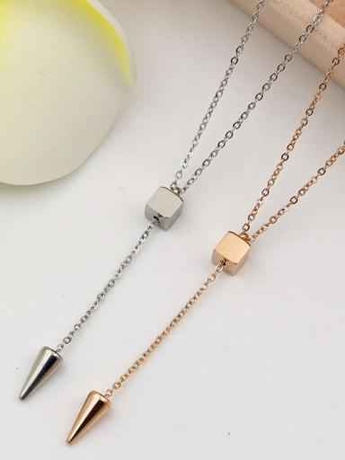 Titanium Bullet Locket Lariat Necklace