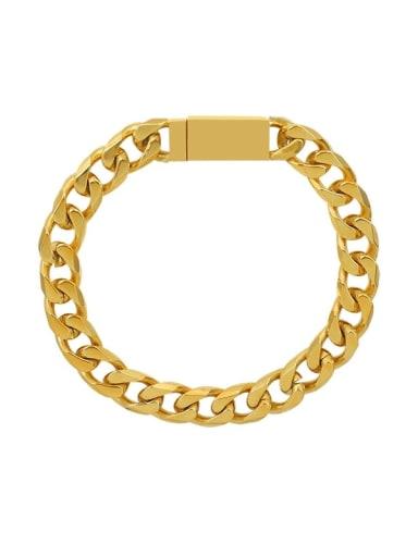 Titanium Steel Geometric Chain Vintage Link Bracelet