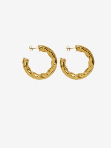 Gold Titanium Steel Geometric Minimalist Stud Earring
