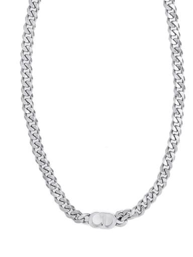 CD Pendant Clavicle Necklace Cuban Necklace