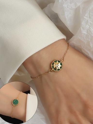 E259 gold bracelet 15+ 5cm Titanium Steel Enamel Hip Hop Round  Braclete and Necklace Set