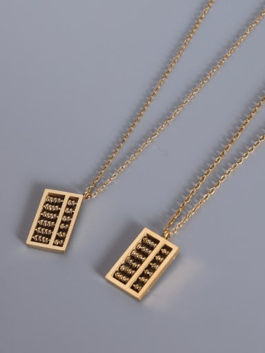 Titanium 316L Stainless Steel Bead Geometric Vintage Necklace with e-coated waterproof