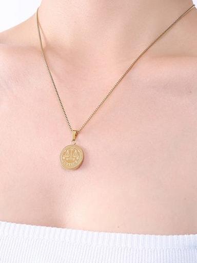 P502 gold  40+ 5cm Titanium Steel Geometric Hip Hop Necklace