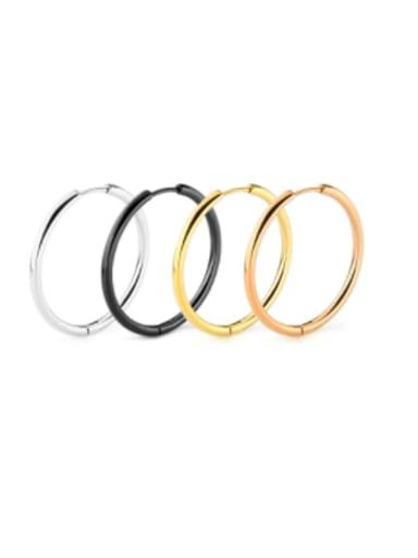 Titanium Steel Round Minimalist Single Earring
