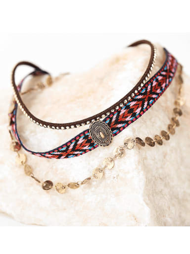 Bohemian vintage personality clavicle necklace