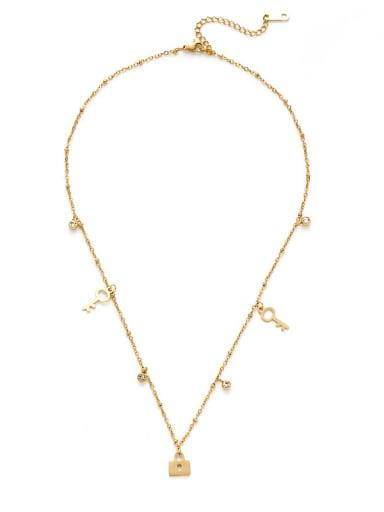 Creative key lock pendant necklace