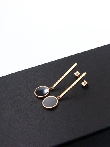 Titanium Round Dainty Drop Earring