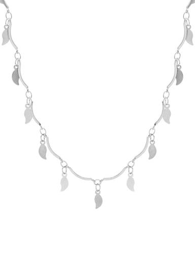 Titanium Steel Leaf Minimalist Necklace