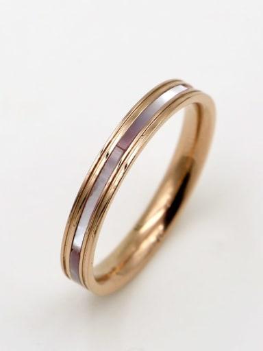 Titanium Shell Rosary Minimalist Band Ring