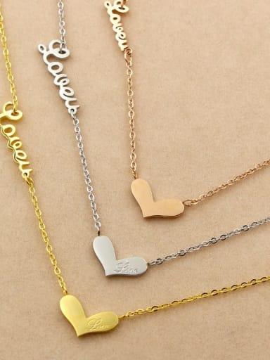 Titanium Letter Dainty Initials Necklace
