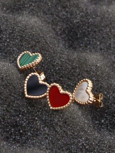 Titanium Heart Minimalist Stud Earring