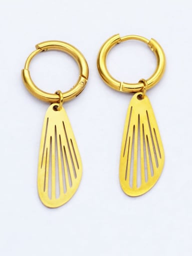 European and American fashion 18K Gold non fading stainless steel awn star titanium steel earrings