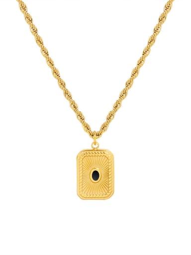 P100 gold necklace 40+ 5cm Titanium Steel Geometric Vintage Bead chain  Necklace