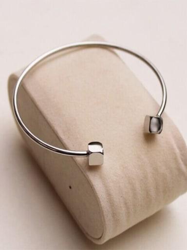 Titanium Smooth  Minimalist Cuff Bangle