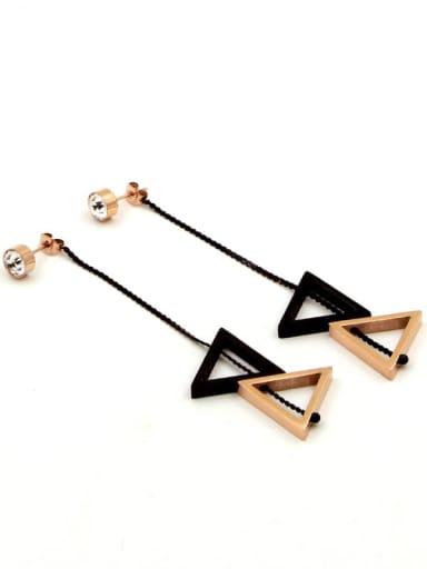 Titanium Triangle Minimalist Drop Earring