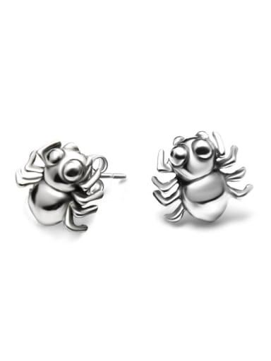 Titanium Steel Bug Hip Hop spider Stud Earring
