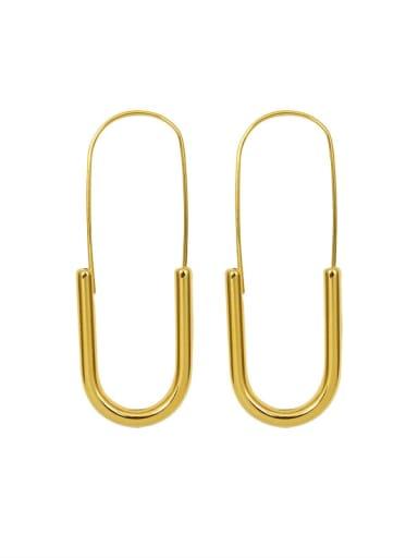 gold Titanium Steel Geometric Pin  Minimalist Stud Earring