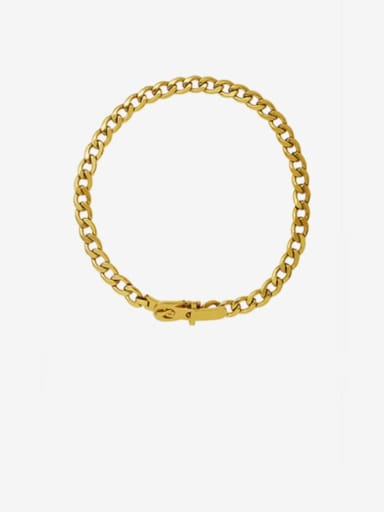 Gold  35cm Titanium 316L Stainless Steel Hollow Geometric Vintage Choker Necklace with e-coated waterproof