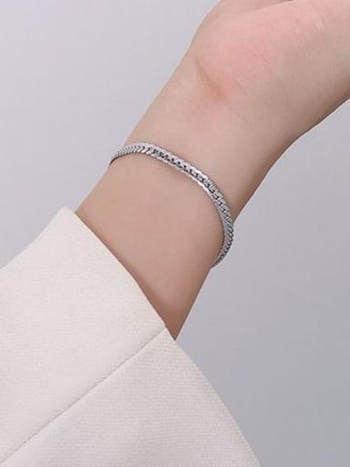 E018 steel fine Bracelet 15 +5cm Titanium Steel Vintage Irregular Bracelet and Necklace Set