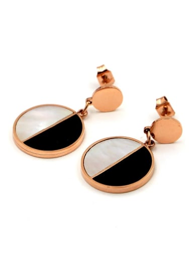 Titanium Shell Round Dainty Drop Earring