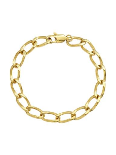 E046 gold bracelet 18cm Titanium Steel Geometric Hip Hop Bracelet