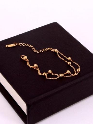 Titanium  smooth round bead  Dainty Bracelet