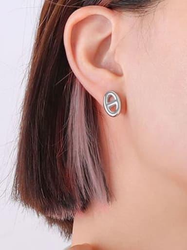 Titanium Steel Minimalist Geometric  Earring and Necklace Set