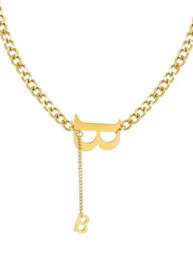Titanium 316L Stainless Steel Tassel Vintage Tassel Necklace with e-coated waterproof