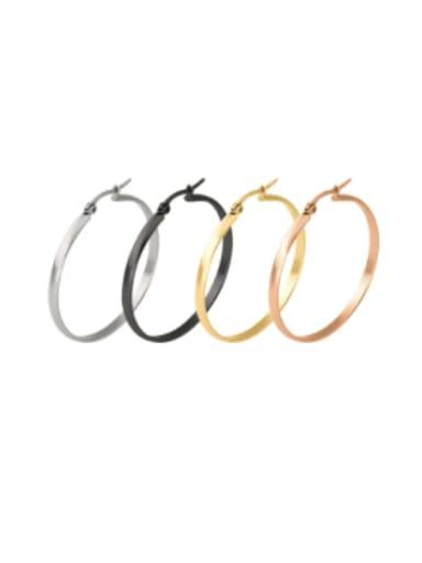 Titanium Steel Round Minimalist Hoop Earring