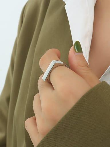 A280 steel ring Titanium Steel Geometric Minimalist Band Ring