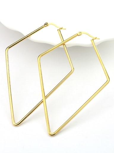 Pentagonal gold Titanium Steel Geometric Minimalist Huggie Earring