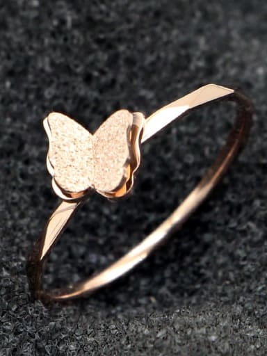 Titanium Butterfly Dainty Band Ring